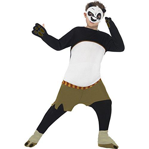Smiffys, Kinder Jungen Kung Fu Panda Kostüm, Gepolsterter Overall und Maske, Größe: M, 20495 (Kung Fu Panda Halloween Kostüme)