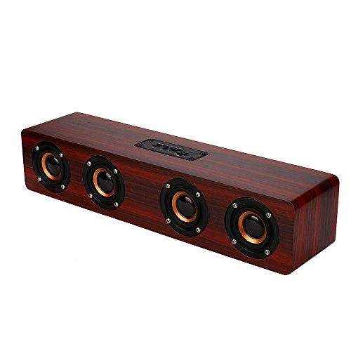Fanxing New Fashion Wireless Bluetooth Speaker Super Bass Stereo Speaker Retro Wood Speaker