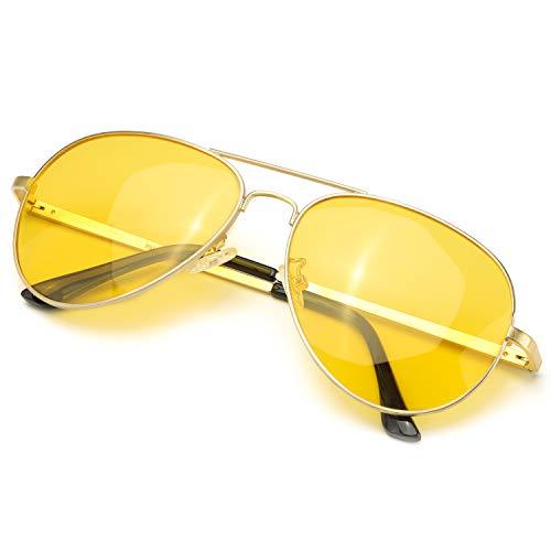 Gafas de aviador amarillas polarizadas