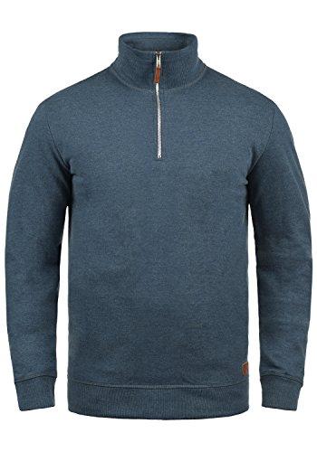 Blend Aliere Herren Sweatshirt Pullover Troyer Pulli Mit Stehkragen, Größe:L, Farbe:Ensign Blue (70260)