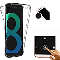 TheTransporter Slim 360 degree Protective Shockproof Front and Back Full Body TPU Silicone Gel Case Cover For Samsung Galaxy S8 Clear