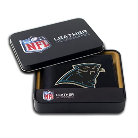 NFL Carolina Panthers Embroidered Genuine Cowhide Leather Billfold Wallet
