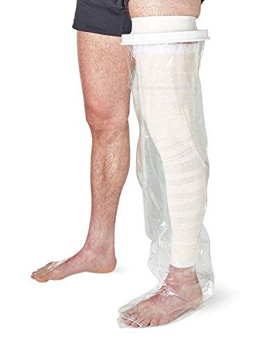 Duschhülle - Bein Ganz, Die Schutzhüllen schützen Gips und Verbände beim (973977015599)