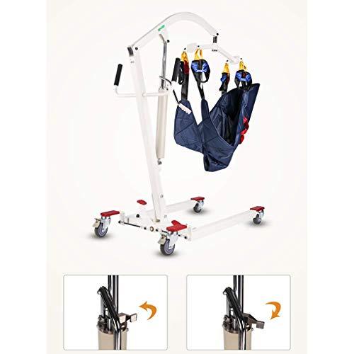 41X E6ihhEL - YXP Elevador de Pacientes hidráulico Plegable con Eslinga de Transferencia, Unidad de Transporte de Pacientes con Asistencia de Soporte, Capacidad de Peso de 400 LB, para Personas discapacitadas