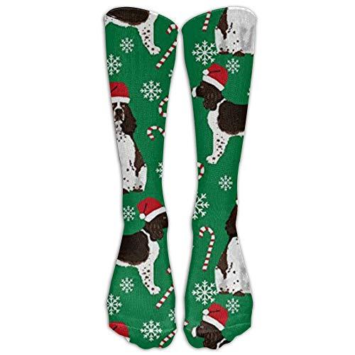English Springer Spaniel Weihnachtsmann-Kniestrümpfe für Damen und Herren – Beste medizinische Socken für Stillen, Reisen und Flugreisen