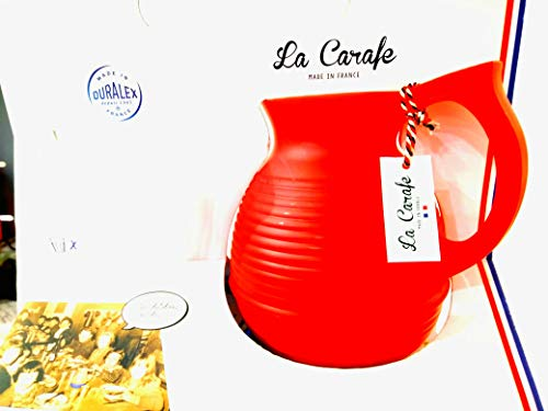 la carafe, X Duralex (Carafe Rouge + 6 Verres Duralex)