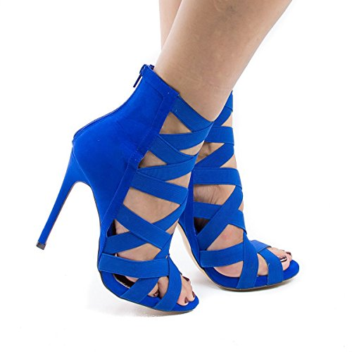 Sandale Schuhe Sandalen Party Catwalk Kleid Schuhe Blue