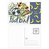 Cartoon-Fußball-Serie, Motiv Fußball Banane, Postkarten-Set, Danksagungskarte, Postkarte, Seite 20 Stück