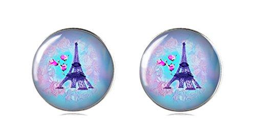 Tizi Jewellery 925 Sterling Silber Eiffel Turm Ohrstecker 12 mm Handgemachte Ohrringe für Damen und Mädchen perfektes Geschenk oder für Party (Bambus-turm)