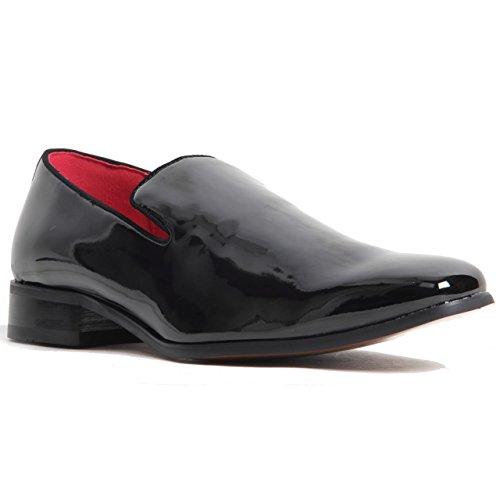 Gentleman pour homme en cuir véritable doublé antidérapant sur le Penny Flâneur Western Talon Chaussures Patent Black