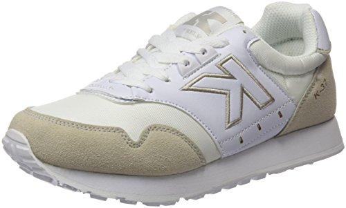 Kelme K-37, Baskets Basses Mixte Adulte Blanc Cassé - blanc