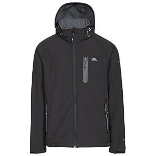 Trespass Men's Accelerator II Waterproof Softshell Jacket with Removable Hood, Black, 2X-Large