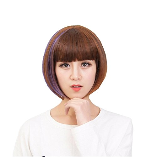 TT Perücken Kurzes Haar Bobo Kopf Gut aussehende Picking Perücken Set kurze glatte (Einfach Gut Kostüme Aussehende)