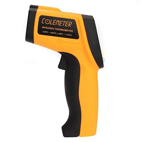 Colemeter gm320 termometro pistola digitale ad infrarossi, misuratore tester temperatura a infrarossi ir laser da -50 a 380°c / da -59 a 716°f