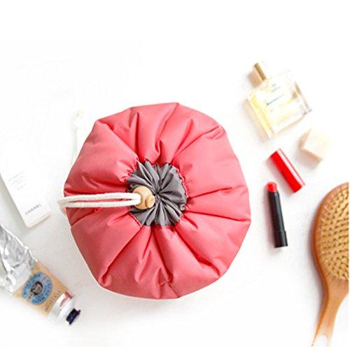Wasserdicht Kosmetische Lagerung Tasche,Aliyao Reisen Make up Kosmetische Lagerung Tasche Grosse Kapazität Travel Kit Veranstalter Badezimmer Multifunktionale Eimer mit einem Reisen Toilettenartikel F Red