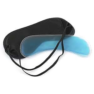 Lumaland masque de sommeil avec poche pour coussinet de gel rafraîchssant Noir