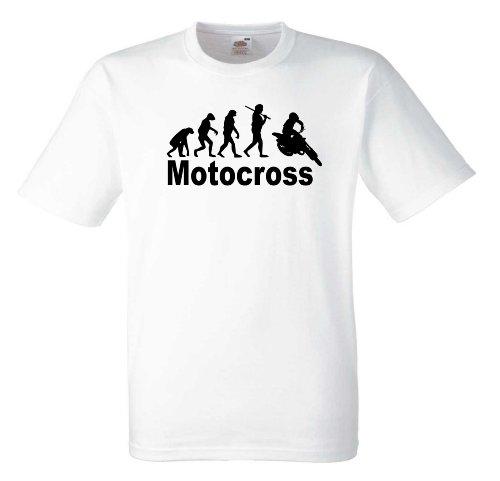 Motocross Evolution T550 Unisex T-Shirt Textilfarbe: weiß