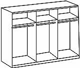 Wimex 734581 Kleiderschrank 270 x 210 x 58 cm mit 4 Spiegeltüren, Front und Korpus alpinweiß / Aufleistungen chrom glänzend -