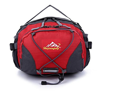 Zll/Multifunktions-Pocket Stecker Rides fließendem Wasser Flasche Taschen Nylon Outdoor Sports Damen Outdoor Tasche Rot