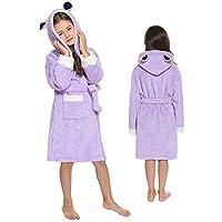 Sykooria kinderbadjas fleece badjas met capuchon kinderbadjas voor jongen meisje Warme badjas met zakken