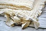 Mulltuch aus Bio-Baumwolle, Halstuch, Spucktuch, Stoffwindel, Musselintuch, Dreieckstuch, Babys, Frühchen, Kinder, Musselin, Mädchen, Junge, Naht creme, beige, natur, braun