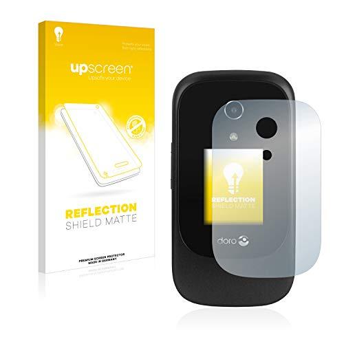 upscreen Matt Schutzfolie kompatibel mit Doro 7060 (Äußeres Bildschirm) - Entspiegelt, Anti-Reflex, Anti-Fingerprint