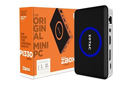 Zotac ZBOX PI330 1.44GHz x5-Z8500 Negro, Acero inoxidable Mini PC - Ordenador de sobremesa (1,44 GHz, Intel® Atom™, x5-Z8500, 2 GB, 32 GB, Windows 10 Home)