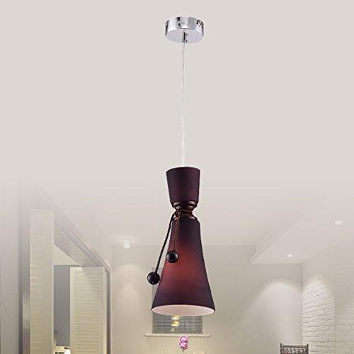GAOLILI Moderne Minimaliste Restaurant Trois Verre Lustres Violet Bar Lampe Salle à Manger Salle à Manger Hanging Rétro Éclairage Chinois E27 * 1 (Couleur : A)