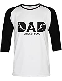 PALLAS Unisex's Dad Cricket Soul Gift Funny T-Shirt