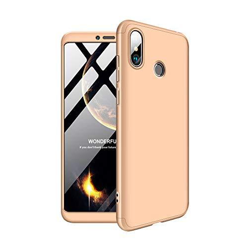Aidinar Xiaomi Mi MAX 3 Funda, Bumper y Anti-Scratch, Estuche Rígido de 360 Grados Estuche Completo para Xiaomi Mi MAX 3(Oro)
