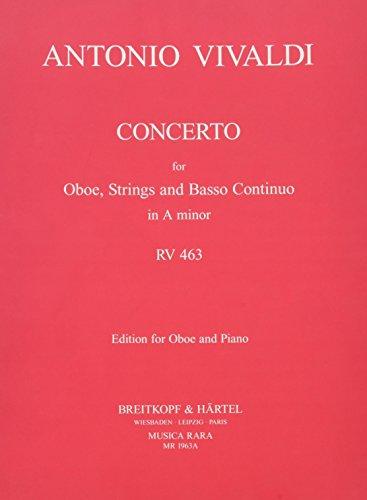 Concerto in a-moll RV 463 - Ausgabe für Oboe und Klavier (MR 1963a)