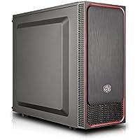 Cooler Master MasterBox E500L Red - Cajas de ordenador de sobremesa 'ATX, microATX, Mini-ITX, Rojo, Panel lateral sólido' MCB-E500L-KN5N-S01