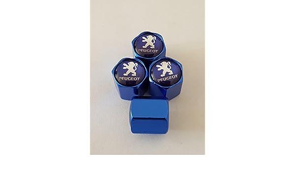 2 Speed Demons PEUGEOT blue deluxe alloy valve caps these dust caps fit all models 206 1007 407 205 207 504 309 4007 Partner 307 etc