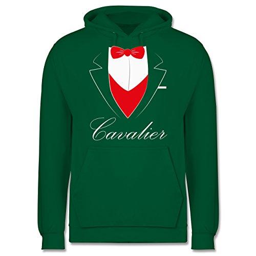Statement Shirts - Cavalier Anzug - Männer Premium Kapuzenpullover / Hoodie Grün