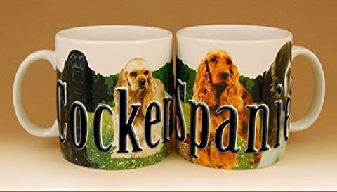 Americaware, My Pet Mug, Best Friend Series, Cocker Spaniel, Raised Lettering, 18 oz. by Americaware Inc.