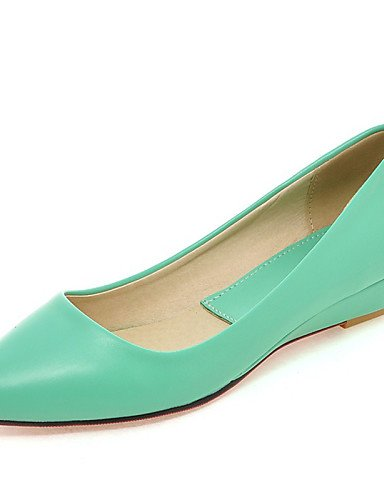 ZQ gyht Scarpe Donna - Mocassini - Formale / Casual - Comoda / A punta - Zeppa - Finta pelle - Nero / Verde / Rosa / Bianco , black-us8.5 / eu39 / uk6.5 / cn40 , black-us8.5 / eu39 / uk6.5 / cn40 black-us4-4.5 / eu34 / uk2-2.5 / cn33