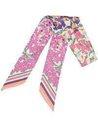 Felix   SiLK Mujer Niña Flores Reversible Bufanda Fulares Bufanda de Cuello  Diademas Pañuelo para la dc847115b2d
