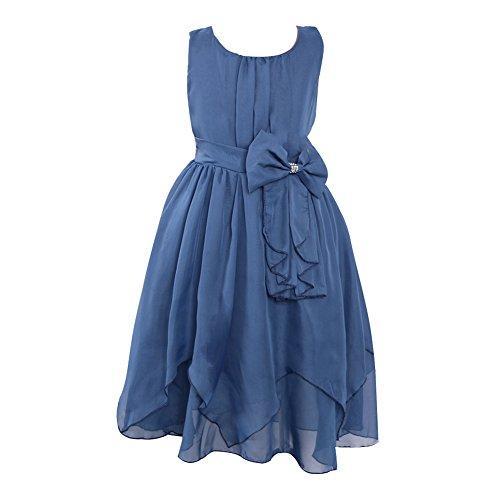 LSERVER Mädchen Sommer Kleid mit Schleife-Deco, Mintgrün, Gr. 134/140(Herstellergröße: 140)