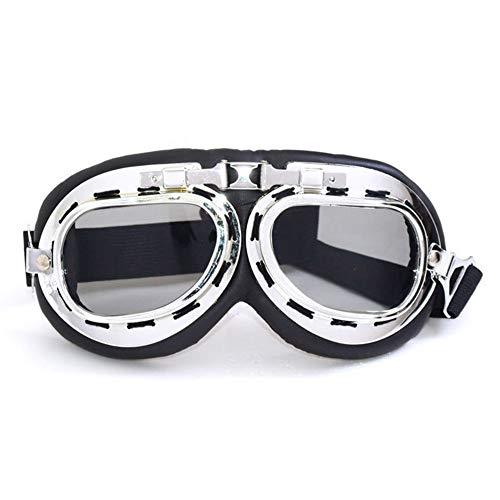 RENNICOCO Vintage Roller Motocross Brille Brille Motorrad Radfahren Brille Cruiser Steampunk ATV Fahrrad Brillen