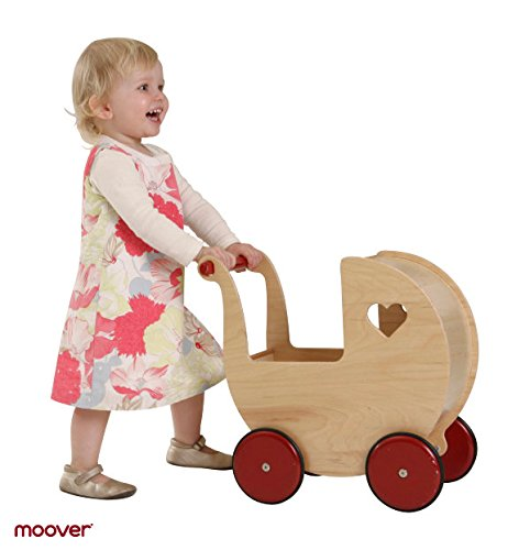 Moover Toys Holz Maxi- Puppenwagen natur / dolls pram natural / Puppenwagen im Nostalgiedesign…