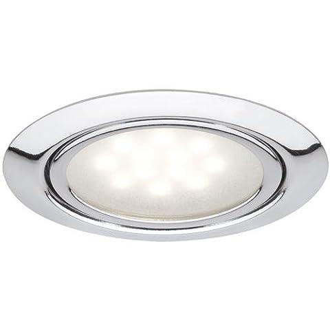 Paulmann 99814 Möbel Einbauleuchte / Einbaulampe Set LED 3x1W 12VA 230/12V 65mm Chrom/Metall (Riesen Licht-sets)