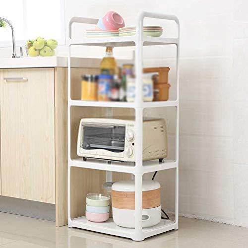 Kitchen furniture - Support de rangement de ménage à étagère multifonctionnelle en plastique sur un support de four à micro-ondes en plastique WXP (taille : 45X32X101CM)