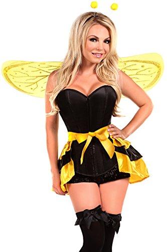 Daisy Kostüm Bee - Daisy Corsetts Damen-Kostüm Bienenkönigin 4-teilig - Gelb - 5X