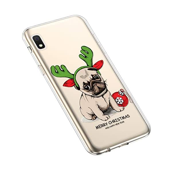 Uposao Compatible with Samsung Galaxy A10e Cover Christmas Xmas Pattern Girls Cute Crystal Clear TPU Silicone Rubber Case Transparent Soft Bumper Gel Shockproof Case,Dog Uposao Compatible Model: Samsung Galaxy A10e Package:1 x Bumper Case Cover,1 x Black Stylus Touch Pen Soft Silicone Phone Cases Christmas Decorations Pattern Ultra Slim Fit Thin Clear Transparent Back Cover Flexible Rubber Gel Protective Shell 1