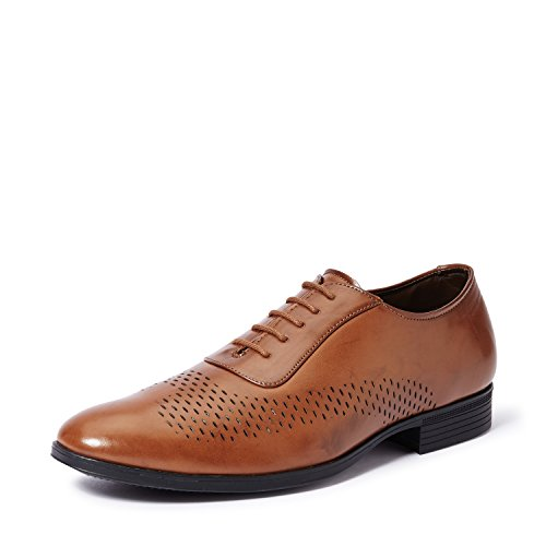 Symbol Men's Tan Formal Oxford Shoes- 9 UK/India (43 EU)(AZ-KY-95B)