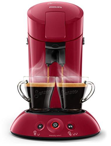 Philips Senseo HD6554/90 Kaffeepadmaschine (Crema Plus, Kaffeestärkewahl) dunkelrot