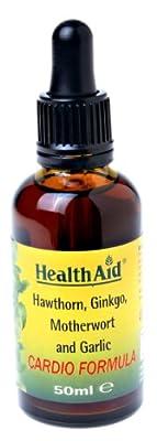 HealthAid Cardio Formula (Hawthorn, Ginkgo, Motherswort, Garlic) Liquid 50ml by HealthAid