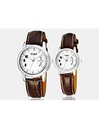 Zophor (TM) moda Classic Eyki reloj e-times piel muñeca cuarzo relojes Masculino hombres blancos pulsera de vestido de las mujeres reloj del amante