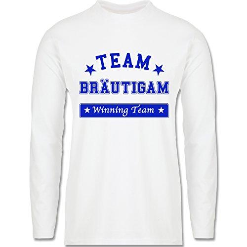 JGA Junggesellenabschied - Team Bräutigam Winning Team - Longsleeve / langärmeliges T-Shirt für Herren Weiß