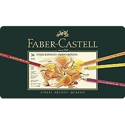Faber-Castel 110036 - Lápices de colores en estuche de metal (36 unidades) [Importado de Alemania]